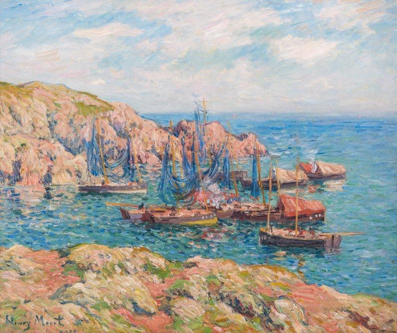 brafa-2020-ary-jan-l-le-de-groix-bateaux-de-pche-1902-henry-moret