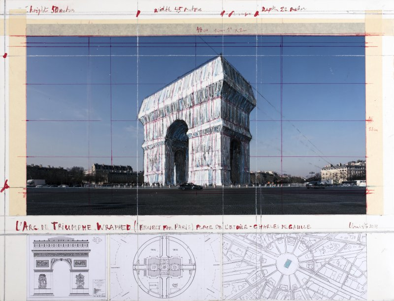 brafa2020-christo-and-jeanne-claude-l-rsquo-arc-de-triomphe-wrapped-project-for-paris-place-de-l-rsquo-etoile-charles-de-gaulle-pieters