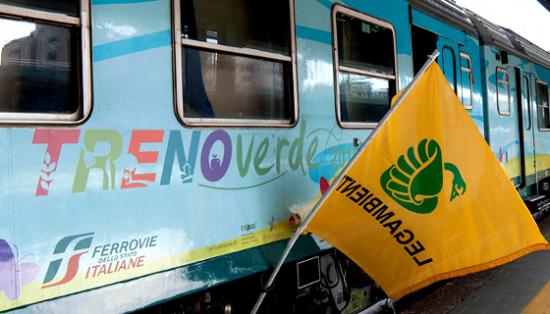 Enerbrain sale sul Treno verde di Legambiente