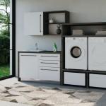 Colavene SmarTop sistema modulare per lavanderia con colonna porta lavatrice e asciugatrice 2