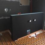 Wedi   ristrutturazione bagno a Munster (fase della costruzione della parete divisoria)
