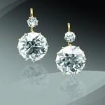 BRAFA2020 Dormeuse Diamond earrings circa 1900 Bouisset