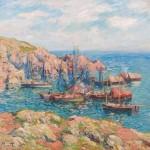 BRAFA2020-L'Île de Groix, bateaux de pêche (1902)-H. Moret-Ary Jan