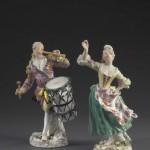BRAFA2020-A pair of musician figures-Robbig