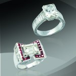 BRAFA2020 Boucheron Diamond engagement ring and Platinum ring Bouisset