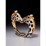 BRAFA2020-David Webb-Twin giraffe bracelet   Epoque