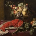 BRAFA2020 Klaas Frans Snyders Still Life with lobster, artichokes, asparagus and fruits Muller