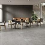 Ceramiche Piemme   Glitch designed by Benoy Floor Ash 120X120cm Wall Fault Carbon 60X120cm