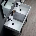 Colavene Acquaceramica Nobu 100x50 bianco e grigio matt