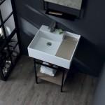 Colavene Acquaceramica Nobu 60x50 cm bianco e Matera matt