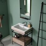 Colavene Alaqua lavabo 70x50 bicolor Matera Matt con struttura Quadrello con cassetto