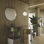 Colavene Collezione  20 20 Mobile Pilotì con lavabo in ceramica verde bamboo