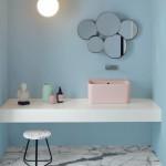 Colavene Acquarella_ Lavabo in ceramica Wynn 50x40 cm  finitura Rosa Matt