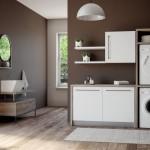 Colavene sistema modulare Smartop per lavanderia con colonna porta lavatrice e asciugatrice
