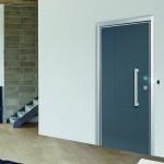 Dierre   porta blindata Next Elettra, modello Wall Security con rivestimento pantografato Dandy mod 5x RAL 7011