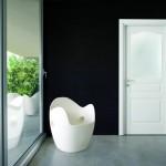 Dierre Porta per interni Bellini A1 laccata bianco neve