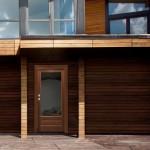 Dierre  VITRA  Porta di sicurezza a vetri rivestimento in noce e vetro