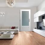Dierre  VITRA  Porta di sicurezza a vetri rivestimento laccato bianco
