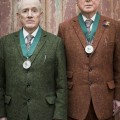 Gilbert & George, with their Royal Academy medals (2)  Photo by Getty Images Tristan Fewings, 2017