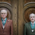 Gilbert & George, with their Royal Academy medals  Photo by Getty Images Tristan Fewings, 2017