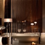 Kerasan Bentley - Vasca lavabo con struttura wengè e sanitari - Design M.Sadler Ph.R.Costantini