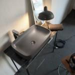 Kerasan Tribeca lavabo da appoggio_finitura grigio