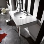 Kerasan Retrò   Consolle 100x55 con rubinetteria lavabo 3 fori