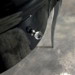 Kerasan Retrò   dettaglio cassetto mobile finitura nero lucido