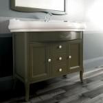 Kerasan Retrò   lavabo 100 cm con mobile in noce laccato verde