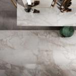 Majestic Valentino   Floor Imperial Pearl 60X120cm Supreme Grey 60X120cm Vanity Top Imperial Pearl 60X120cm