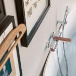 Nobili Rubinetterie DRESS Miscelatore vasca esterno con set doccia