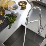 Nobili Rubinetterie Miscelatore cucina LEVANTE finitura cromo design M Venzano