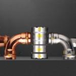 Sistemi metallici Viega per impianti a gas Profipress G, Sanpress Inox G e Megapress G