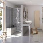 Wedi   Sistema per doccia filo pavimento con seduta preformata