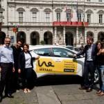 Taxi Torino - Presentazione Wetaxi con Andrea Uslenghi (Taxi Torino) Massimiliano Curto (Wetaxi), Selene Concas (Taxi Torino), Alberto Sacco (Assessore Commercio Torino), Maria Lapietra (Assessora Trasporti Torino)