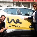 Taxi Torino - (da sin.  Massimiliano Curto CEO Wetaxi e Selene Concas referente progetto Wetaxi per Taxi Torino)