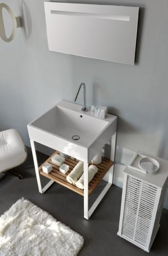 Legno e ceramica per il nuovo lavabo multi uso for Arreda il bagno