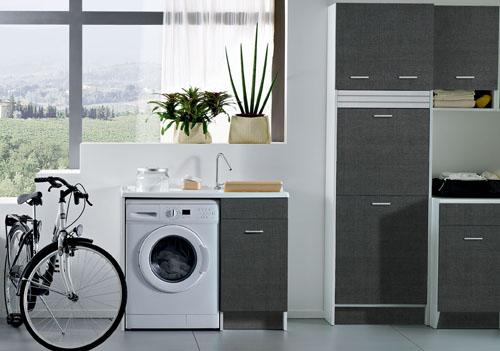 Tendenza grigio anche in lavanderia threesixty torino - Mobili per lavanderia di casa ...